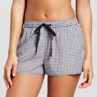 Women's TENCEL® Gingham Check Pajama Shorts - Xhilaration™ Black