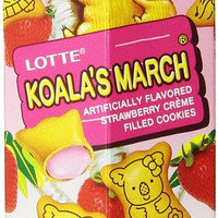 Lotte Koala's March Strawberry Biscuit Cookies (10 Pack)