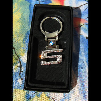 BMW Keyring BLING bmw Keychain with Swarovski crystals bmw sleutelhanger bmw emblem bmw Keychain bmw Key chain bmw 5er five