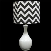 Ceramic Lamp with Black & White Chevron Shade | Shop Hobby Lobby