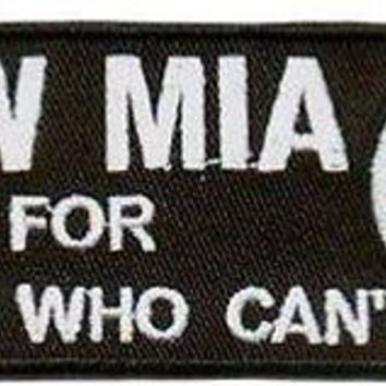 RIDE FOR THOSE WHO CAN'T POA MIA Military VET Motorcycle Biker Patch PAT-1544