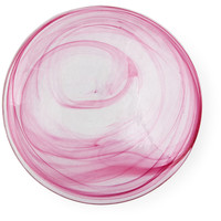 Marble Ink Plates, Pink, Set of 4, Dinner Plates
