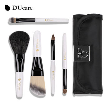 DUcare 5PCS Makeup Brushes MiniGoat Hair Weasel Synthetic Hair Makeup Brush Set Make Up Brushes Cosmetics Tool for Travelling