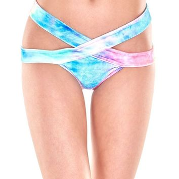 Scrunch Back Aries Bottoms, Strappy Bikini Booty Shorts