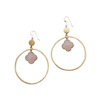 Sirissima | Grover Dangle Hoop Pink Earrings