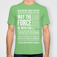 Star Wars Quotes T-shirt by Josh Byers | Society6
