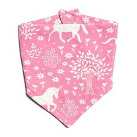 Pink Unicorn Kerchief Bib by Winter Water Factory