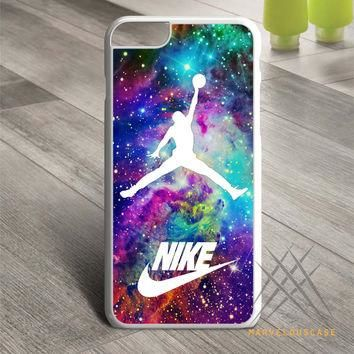 Michael Jordan on galaxy nebula new custom Custom case for iPhone, iPod and iPad