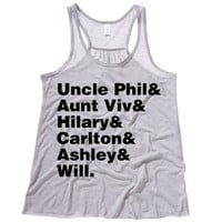 Fresh Prince of Bel Air Cast Names Womens Tank