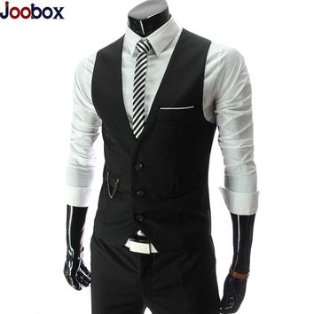 2017 Dress Vests For Men Slim Fit Mens Suit Vest Male Waistcoat Gilet Homme Colete masculino social Formal Business Jacket 4XL