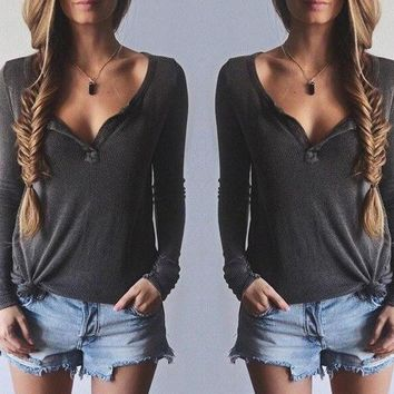 FASHION HOT LONG SLEEVE SHIRT TOP