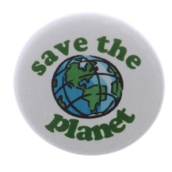 "Save the Planet 1.25"" Pinback Button Pin Earth Love Peace Hippie"