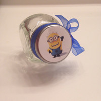 12 Minions Despicable Me Disney theme Birthday Party Candy Jar Favors