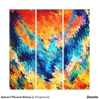 Spinart! Phoenix Rising Canvas Print
