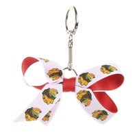 Chicago Blackhawks Women's 2-Tone Mini Bow Keychain
