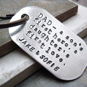 Personalized Father's Day Key Chain