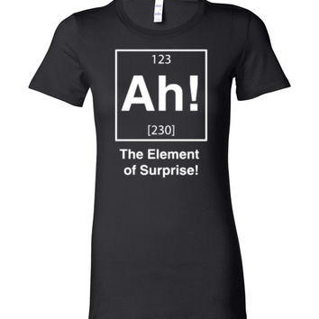 Ah! The Element Of Surprise Women's Fitted Shirt