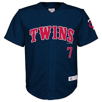 Mlb Minnesota Twins Boys Player Mauer Fashion Jersey Athletic Navy 4/5