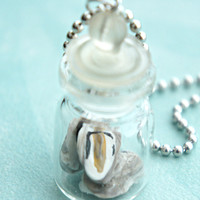 oysters in a jar necklace