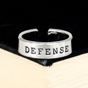 Defense Ring - Gamer Roles - Healer- Adjustable Aluminum Ring