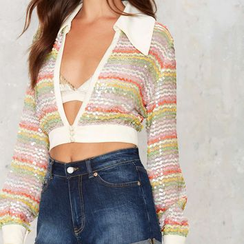 Vintage Rainbow or Later Sequin Top