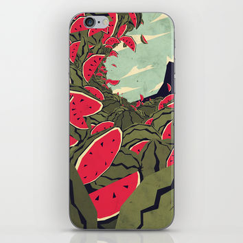 Watermelon surf dream iPhone & iPod Skin by Yetiland
