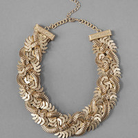 CRETE BRAIDED STATEMENT NECKLACE