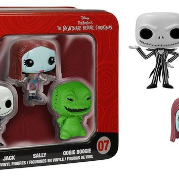 Funko Pop Pocket Mini Figure Jack, Sally, Oogie Boogie With Tin Collector Box