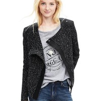 Banana Republic Womens Mixed Media Sweater Jacket