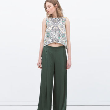 Wide drapey trousers