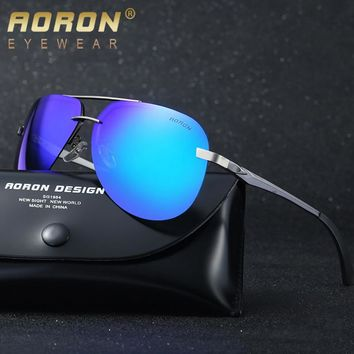2018 AORON Alloy Night Vision Polarized Sunglasses Women Brand Design Glasses Men HD Goggles Mirror Coating Eyewear Oculos