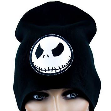 Angry Jack Skellington Beanie Halloween Cap  Nightmare Before Christmas