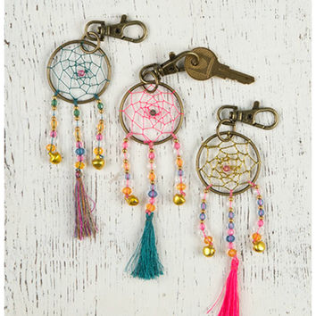 Natural Life Dream Catcher Keychain