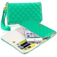 Insten Leather Cell Phone Wallet Case, Green