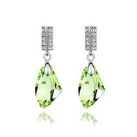 YCJ Women's Rhodium Plated Alloy Earrings: Icy Kingdom Theme