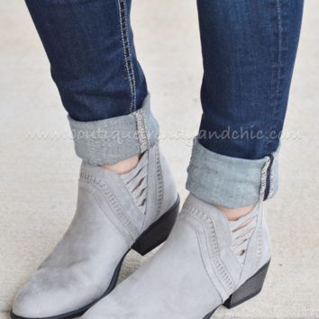 PERFECT DAY BOOTIES IN GREY(Size 5.5 & 6 Left!)