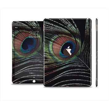 The Dark Peacock Spread Skin Set for the Apple iPad Air 2