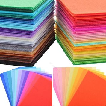 40 Colors Felt Sheets DIY Craft Supplies Polyester Wool Blend New Fabric