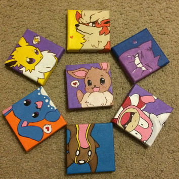 Customized Pokemon Painting x 4