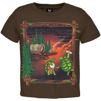 Grateful Dead - Covered Wagon Brown Toddler T-Shirt