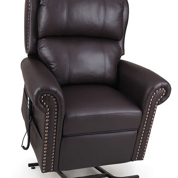 Ultracomfort Power Lift Chair Recliner, Nail Head Trim UC792