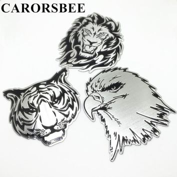 CARORSBEE 3D aluminum Animal pattern totem Auto Stickers Emblem Badge Decal eagle tiger lion car-styling motorcycle automobiles