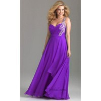 Sheath One-Shoulder Floor-Length Chiffon and Sequins Prom Dress SSC0338 - Occasion Dresses