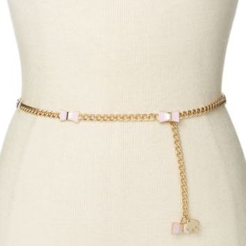 kate spade new york Enamel Bow and Chain Belt | macys.com