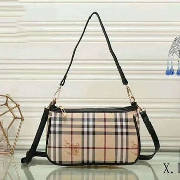 Burberry New Fashion Women Shopping Leather Crossbody Satchel Shoulder Bag