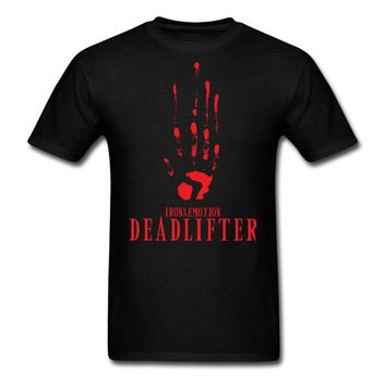 Clever T Shirts Short Graphic Deadlifter O-Neck Tees For Men