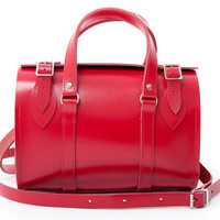 Leather Fargo Bag Red