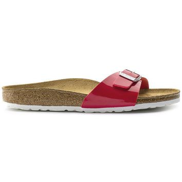 Birkenstock Madrid Birko Flor Patent Tango Red Patent 1005308 Sandals - Ready Stock