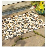 Indoor/Outdoor River Rock Floor Mat $29.95