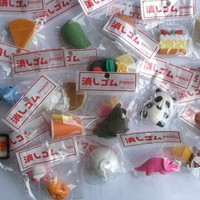 48 Assorted Japanese-Wacky style erasers. Economy Brand. Packaging Will Vary.